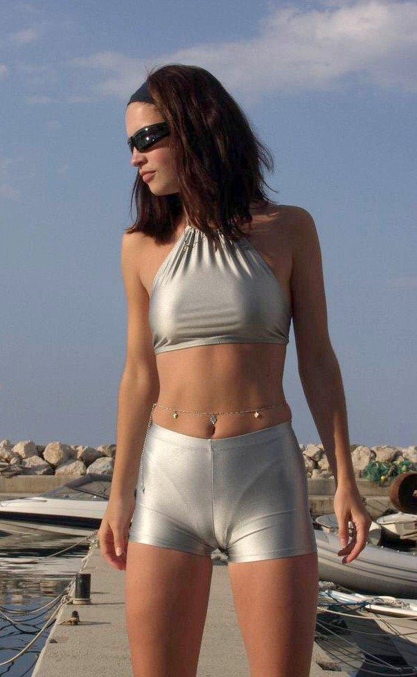 Tight Spande Shorts Cameltoe